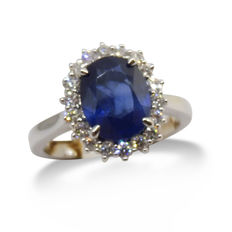 Sapphire Ring, 2.26ct Centre Stone - Size 6.5 (US