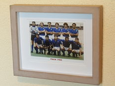 Paolo Rossi - Italian football legend - original autographed 3D framed photo world champion Italy WORLD CUP 82 + COA.