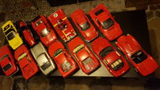 Various - Scale 1/18 - Lot with 13 models: 13 x Ferrari