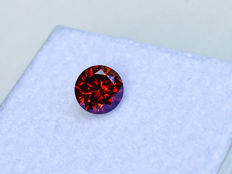 Red Diamond - VS1 - 0.405 ct - Brilliant Cut - without reserve price