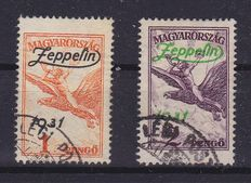 Hungary 1934/1958 - Composition of blocks and Zeppelin overprints