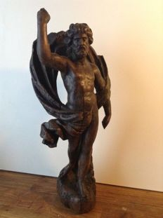 Beautiful wooden sculpture of the risen Christ - Italy - approx. 1650
