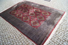 LIKE NEW KASCHMIR PAKISTAN RUG -hand knotted- 295 x 195 cm