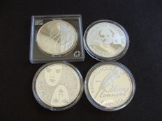 Finland - 10 Euro 2002, 2004, 2005 and 2006 (4 different kinds) - silver