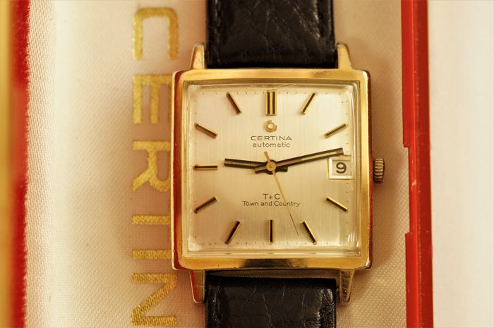 "Certina T + C - Automatic -  TOWN and CANTRY  - Vintage  ""Dress""  men's watch  co. 1975s."