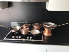 Tagus copper Cookware set including chafing dish