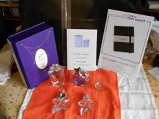 Thierry Mugler - lot of refillable empty bottles, box and display stand POS display: Angel and Alien perfumes.