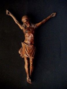 Corpus Christi carved from wood - Flanders - 17th century