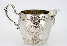 Antique German silver cream jar ca.1890