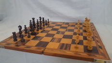 Antique Wood Carved chess set ,France