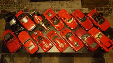 Various - Scale 1/18 - Lot with 14 models: 14 x Ferrari