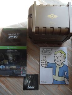 Fallout pip-boy edition 4 in box manual xbox one incl book and soundtrack music.