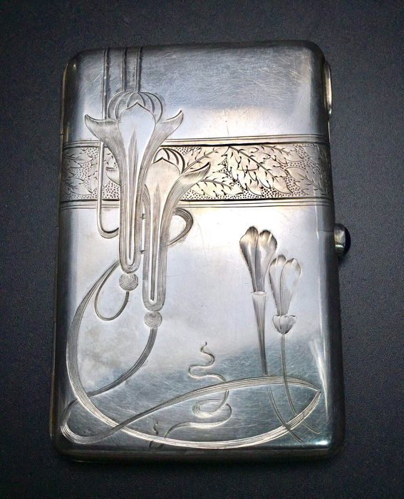 Russian silver - Art Nouveau - Cigar Case