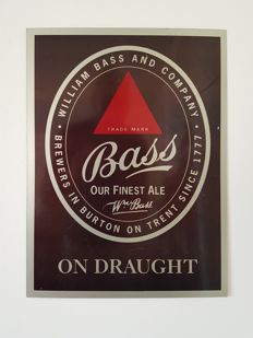 Original and rare metal advertising sign 'Bass Our Finest Ale', second half of 20th century.