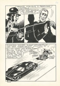 Magnus - original plate for Alan Ford no. 16 page 50 (1970)