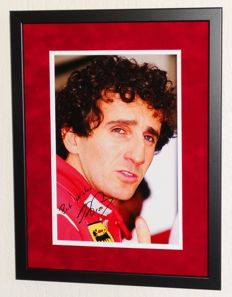 Alain Prost original signed Photo - Premium Framed + Certificate of Authenticity