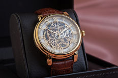 Thomas Earnshaw Longcase – men's wristwatch – 18 kt gold plated – never worn, new condition