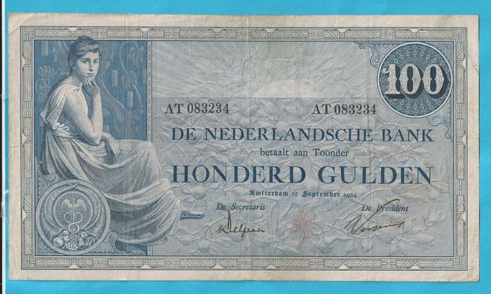 The Netherlands - 100 guilders 1921 Grietje Seel - mevius 116-2