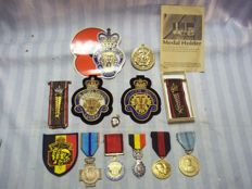 Lot Belgian veteran medals, member of British legion .