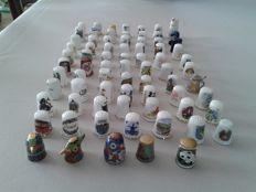 Collection of 75 thimbles.