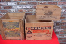 3 beautiful Old Boxes - 2nd half of 20th century