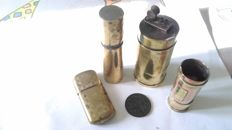 "5 objects; 3 lighters ""Poilus"" War 1914/1918 WW1 + 2 objects"