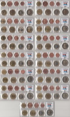Luxembourg - Year series of Euro coins 2002 through including 2014 - complete.