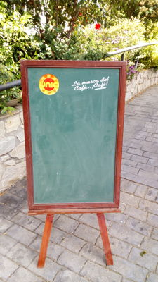 Large bar blackboard with Unic coffee advertising - Spain, 1970s