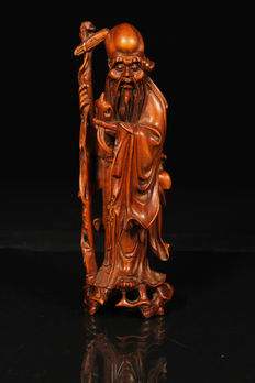 Rosewood carving of Shou-Lao - China - early 20th century