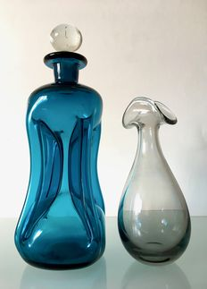 Jacob Bang and Per Lutken (Holmegaard) - Kluk kluk decanter and vase