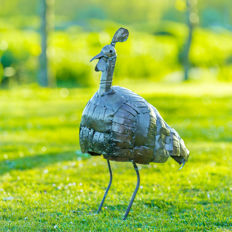 Large metal guinea fowl