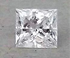 0.72 Carat - D color - VS1 clarity  - Princess Cut Diamond - IGL certified - Original Image