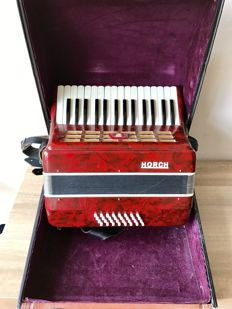 Horch accordion in suitcase.