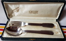 Rare Children's Cutlery Set, Special Order from Morocco to Chistofle, France, Art Deco