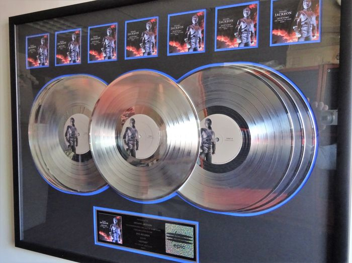 Michael Jackson 7x Platinum In-house award for HIStory: Past, Present and Future, Book I