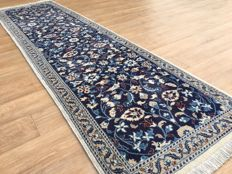 Persian royal NAIN with SILK - rug - approx. 280 x 80 cm - THE CONDITION IS GOOD!