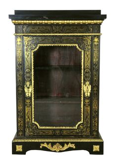 A Boulle style meuble d'appui/vitrine with ormolu mounts - bearing the stamp of EHB for Edward Holmes Baldock - France/England - 19th century