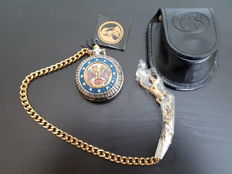 Franklin Mint Collector's Pocketwatch - Robert E Lee Confederate - Civil War