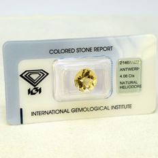 Heliodor - 4.06 ct - No Reserve Price