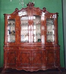 Large display cabinet in rosewood with drawers and doors - 20th century