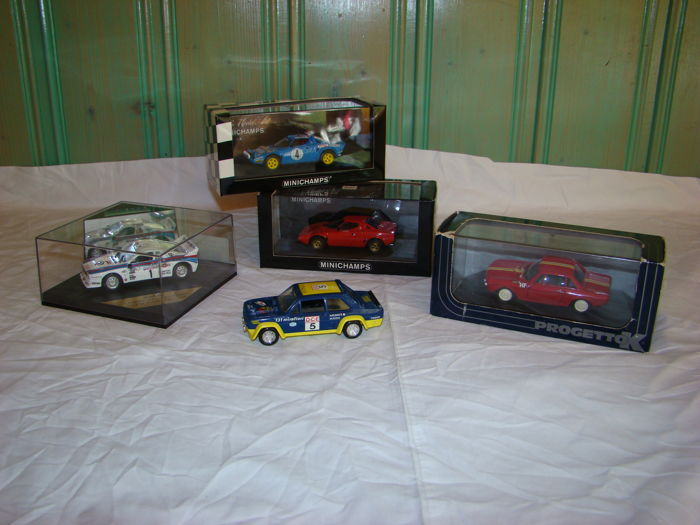 Various - Scale 1/43 - Lot with 5 models: 4 x Lancia & 1 x Fiat
