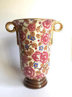 Raymond Chevalier for Boch - Art Deco vase with floral decor