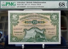 Gibraltar - Government - 1 Pound 20/11/1971 - Pick 18b
