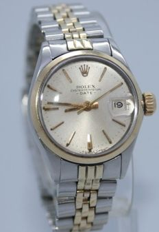 Rolex Oyster Perpetual Date women's watch, Ref. 6516, steel / gold