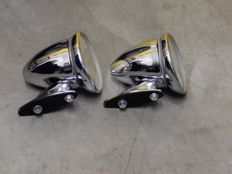 Very nice Pair of Chrome Bullet Style Classic Car Wing Mirrors in Used Good Condition