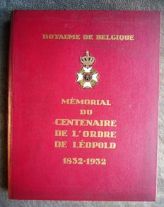 Kingdom of Belgium - Memorial centenary - Order Leopold 1832/1932