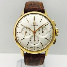 Omega Chronograph Vintage – rose gold – Unisex – box and documentation –  Year 1965