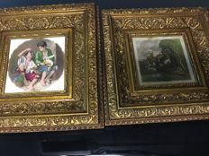 Baroque gold plated picture frames