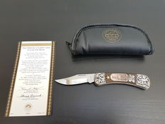 Franklin Mint - Legends of The West - Official Calamity Jane Collector Knife - silver plated