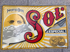 Sol Especial Imported beer advertising sign - 27x40 - France - 2nd half 20th century
